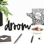"""Zoedt Woord """"Droom"""" - Hout - Zwart"""