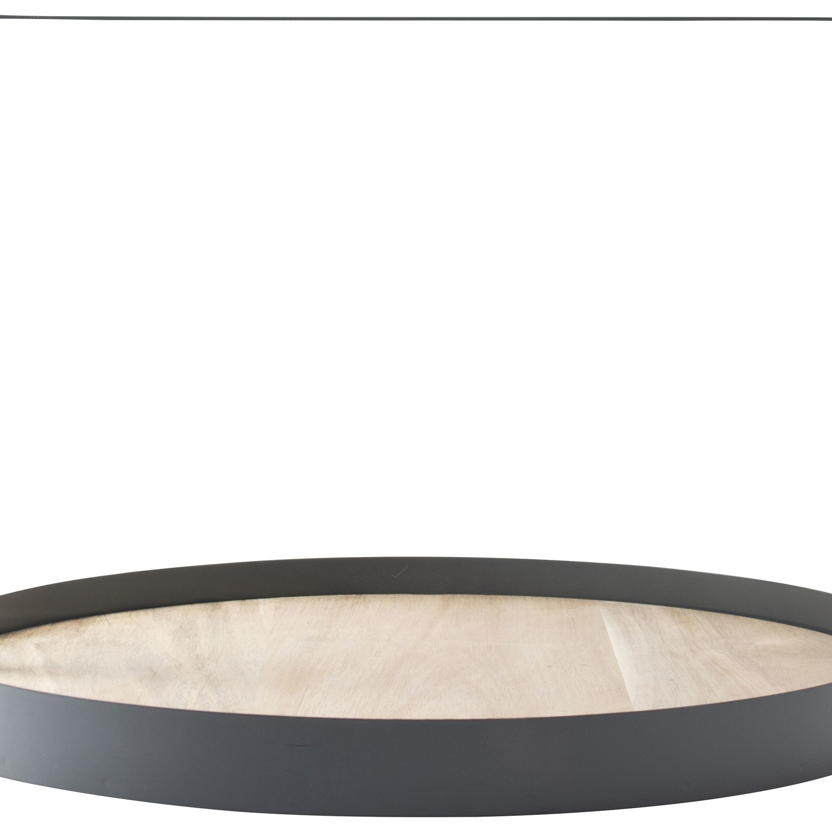Gusta Serveertray met hout - Grijs - 35cm