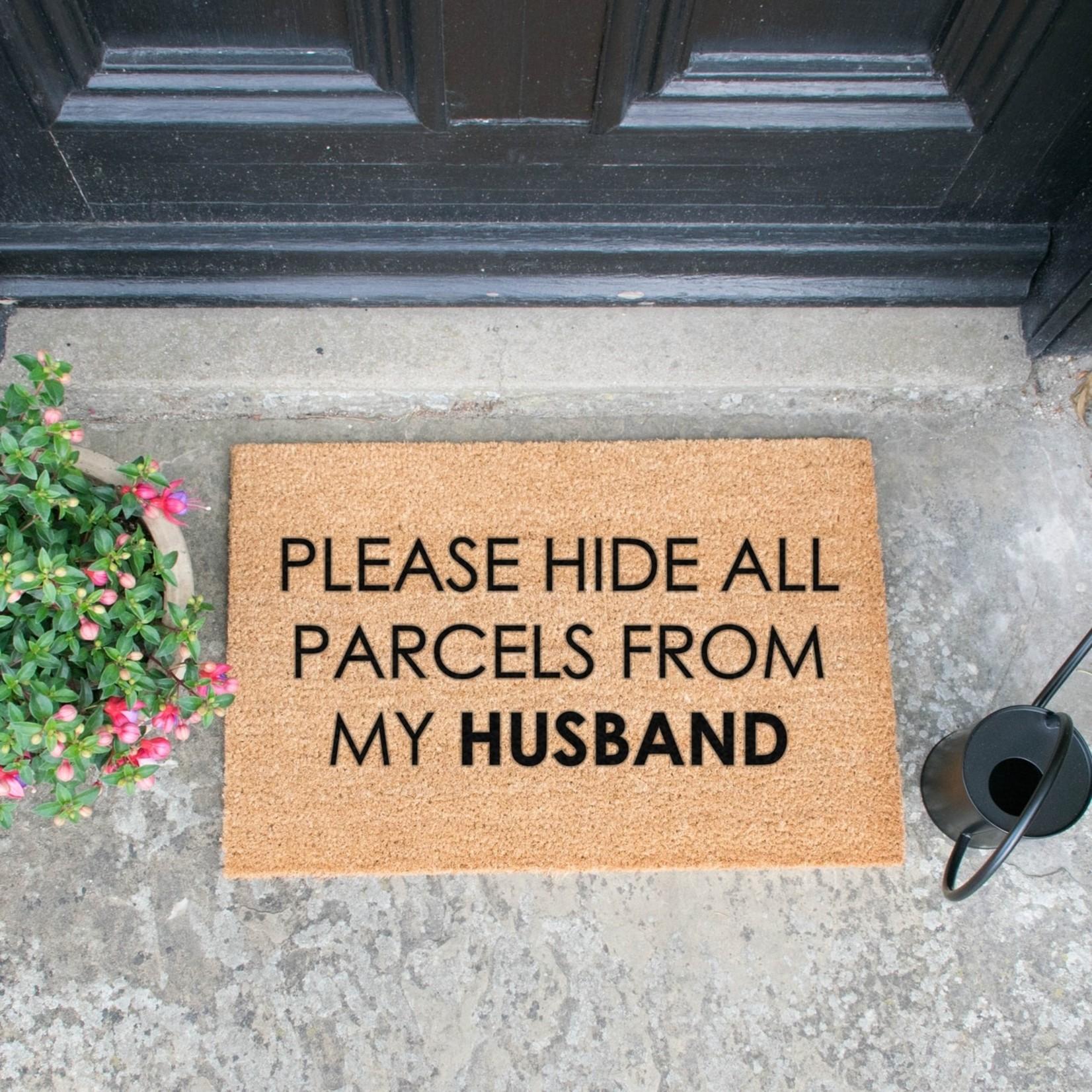 Deurmat kokos- Please hide all parcels from my husband