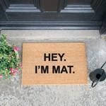 Deurmat kokos - Hey, I'm mat