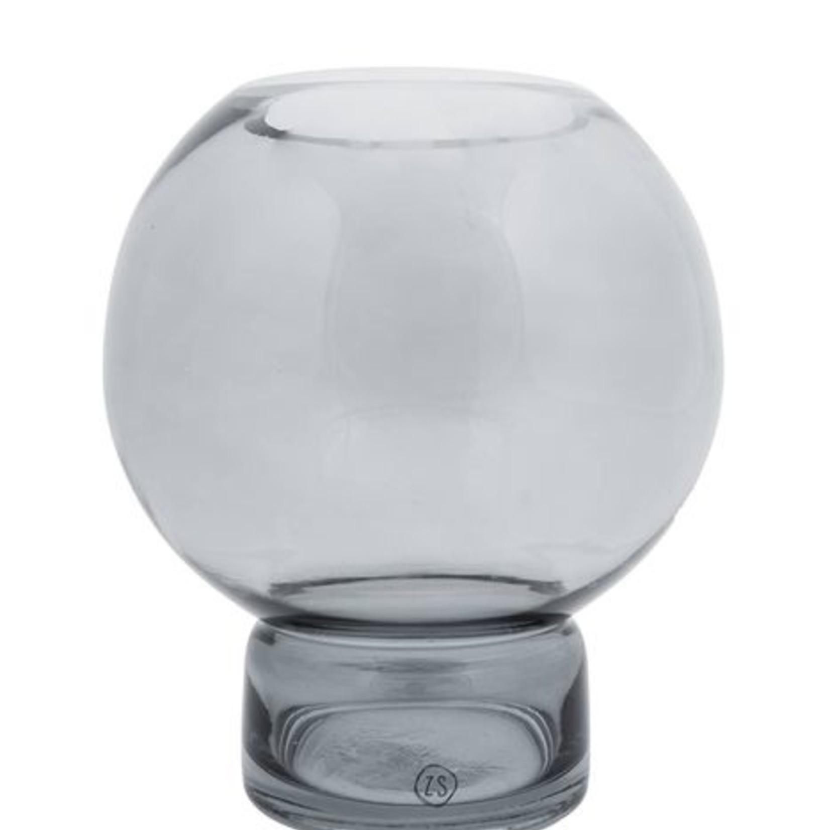Zusss Bolvaas - Glas - Grafietgrijs - 17x19cm