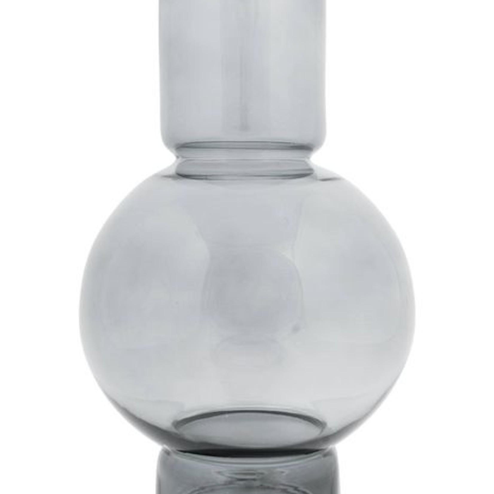 Zusss Bolvaas - Glas - Grafietgrijs - 17x30cm