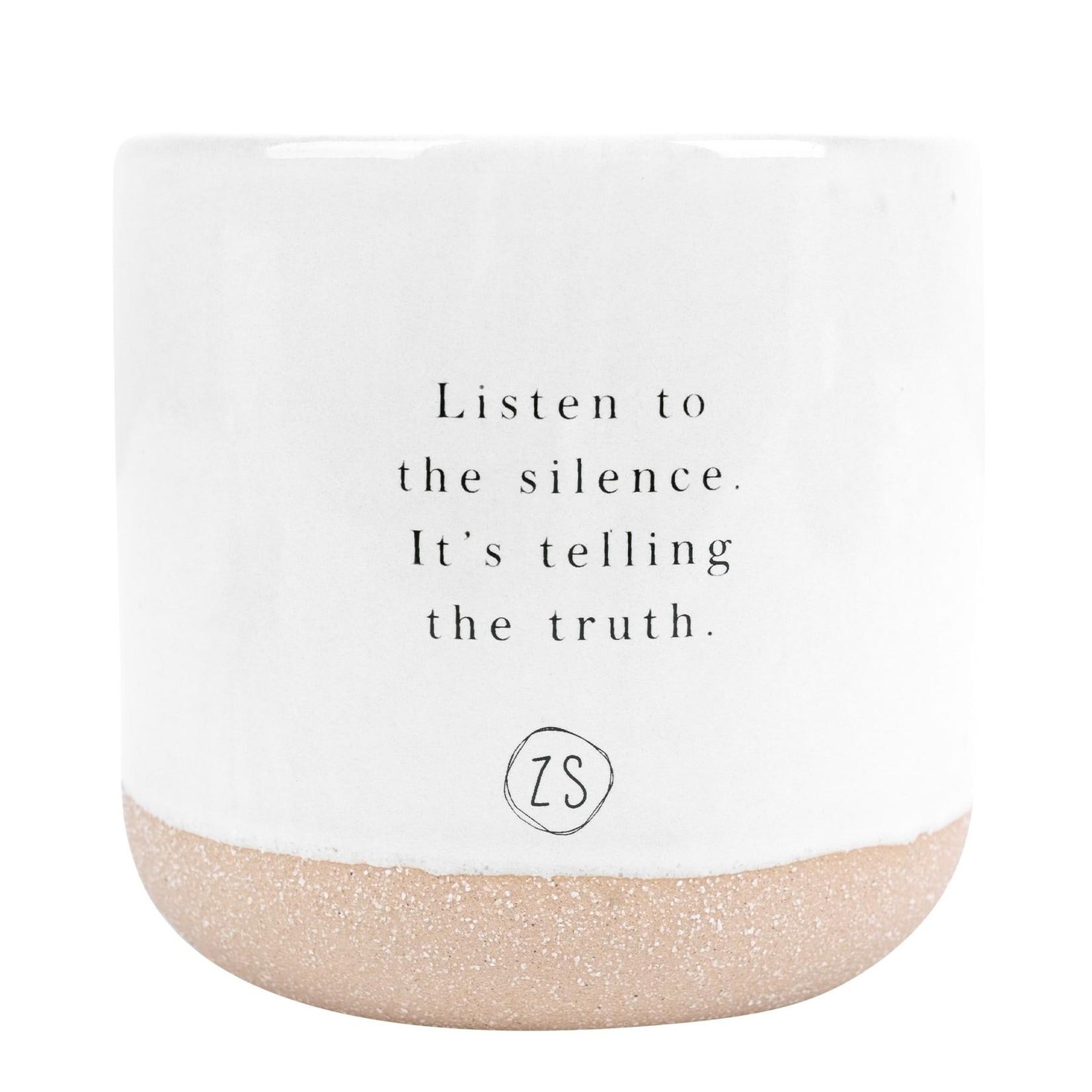 Keramieken geurkaars listen to the silence Zusss