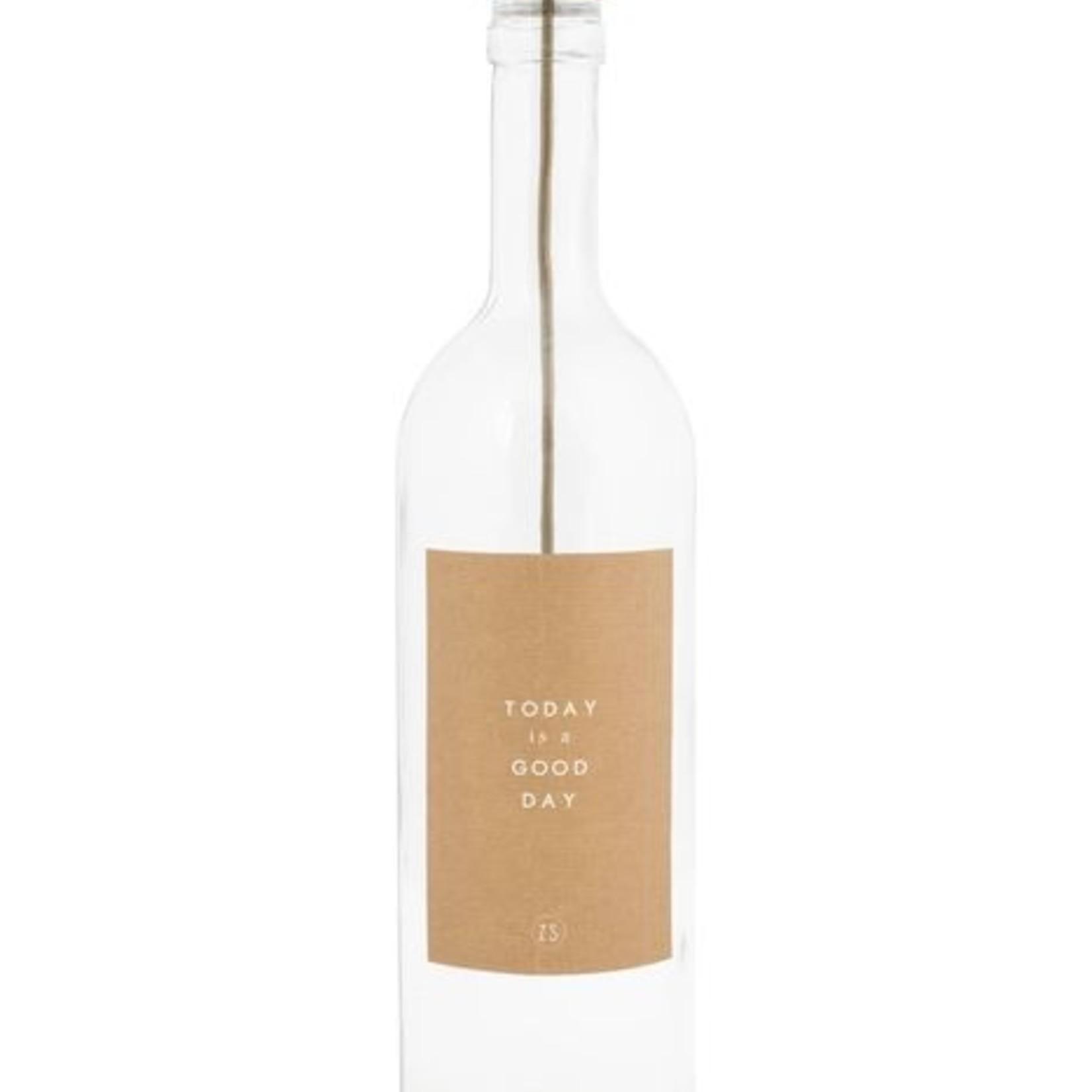 Kaarsenhouder in fles brons Zusss