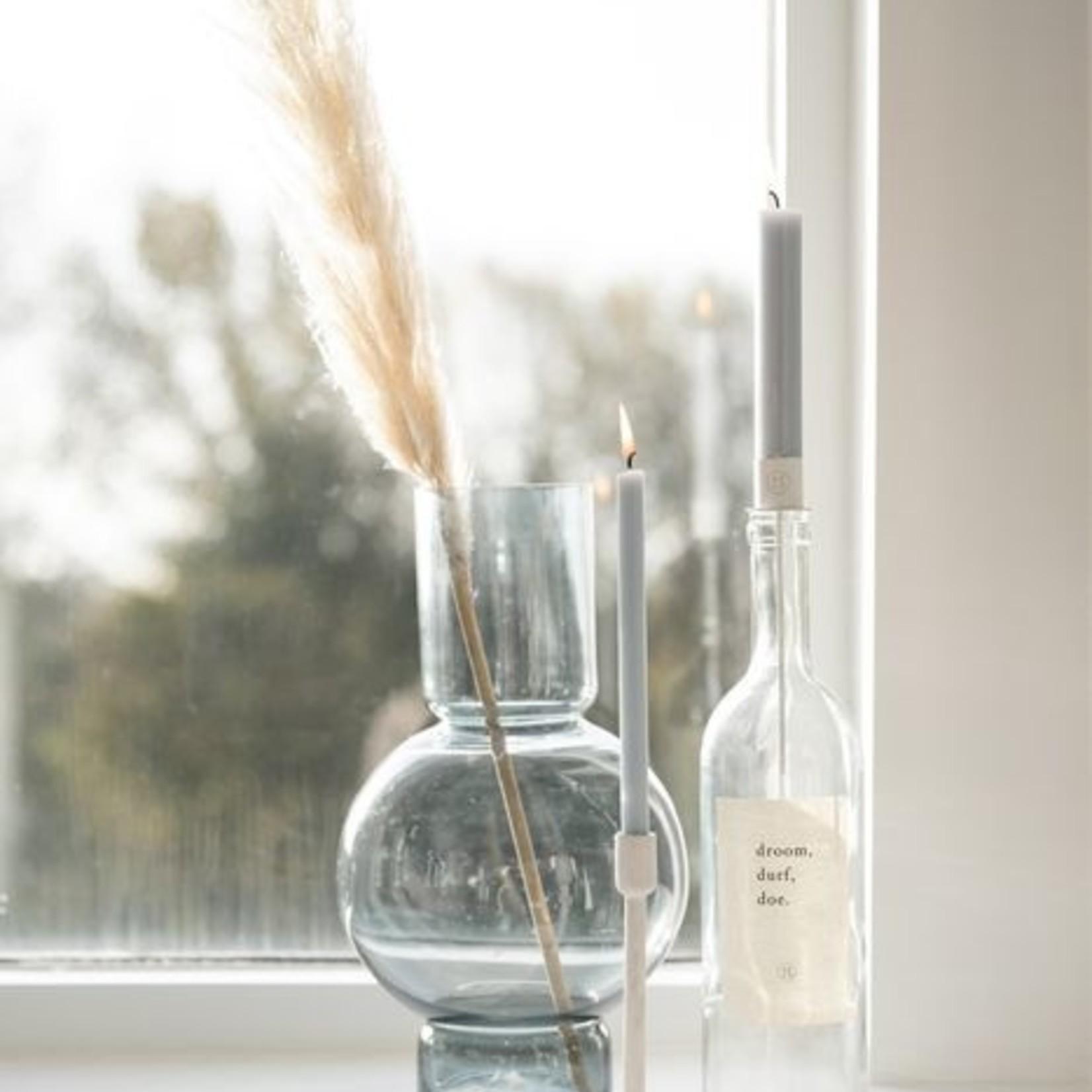 Kaarsenhouder in fles wit Zusss