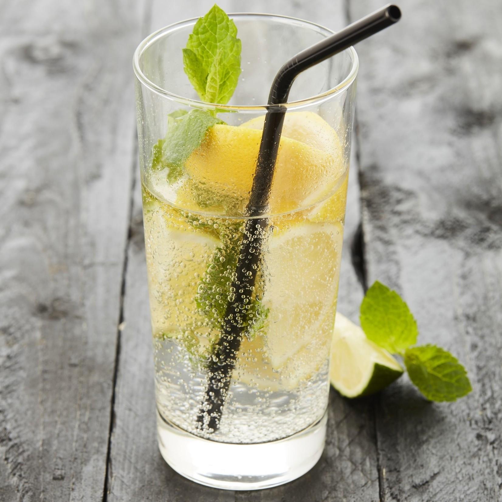 Cocktail rietjes zwart - set van 4 - Point virgule