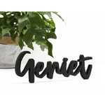 "Zoedt Woord ""Geniet"" - Hout - Zwart"