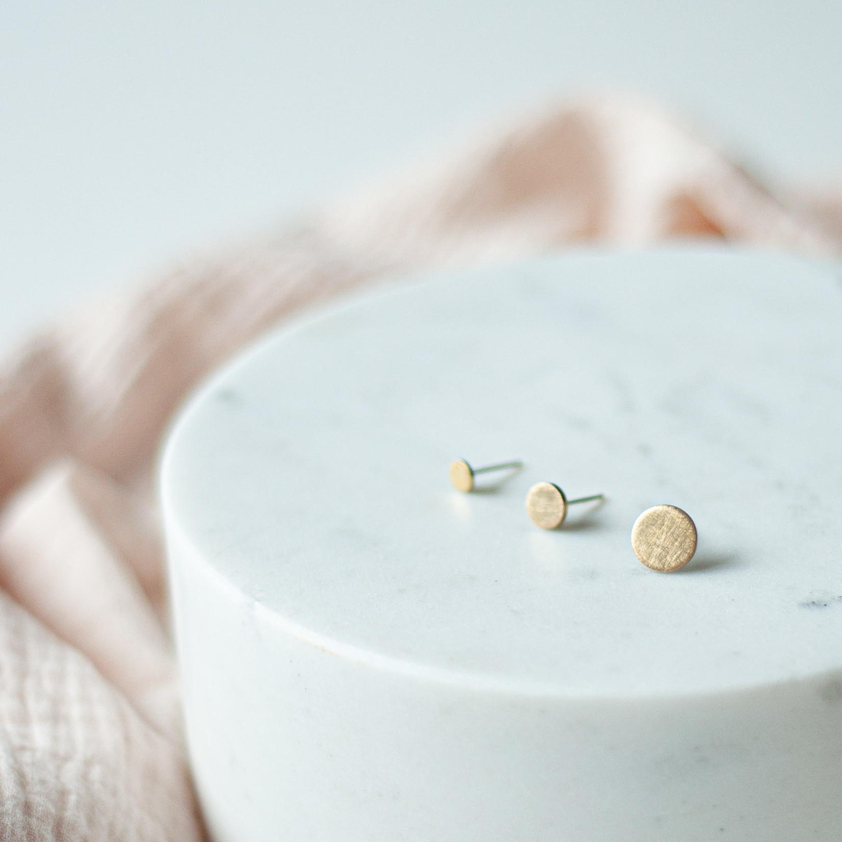 Brass dot studs 10mm