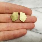 Oorbellen Brass Geometric Studs Inimini Homemade