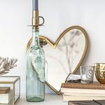 Bottle candle holders - Goud - Set van 2