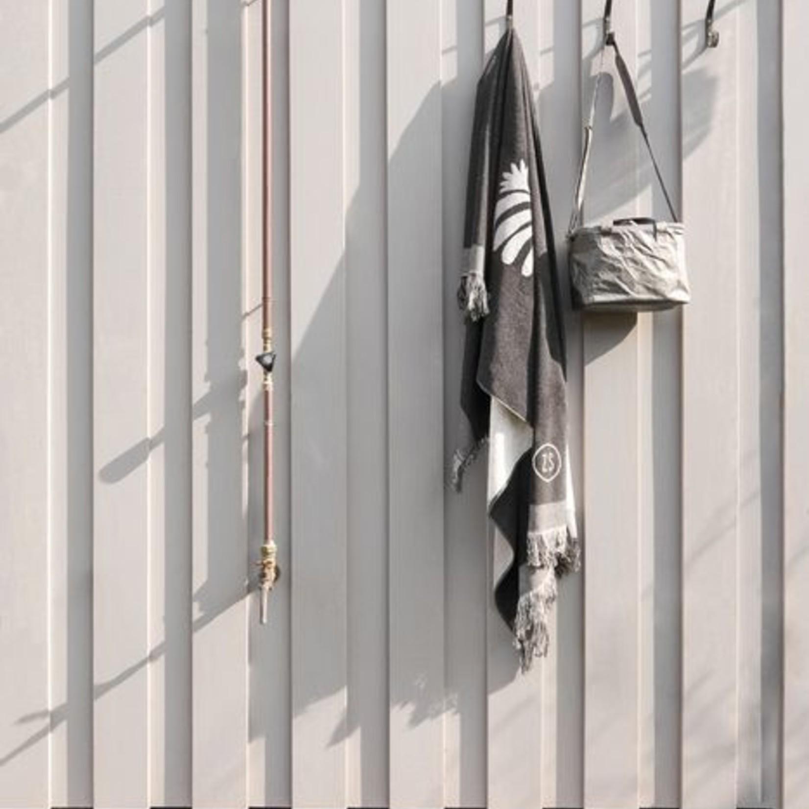 Zusss Strandlaken - Blad - 90x200cm - Antraciet
