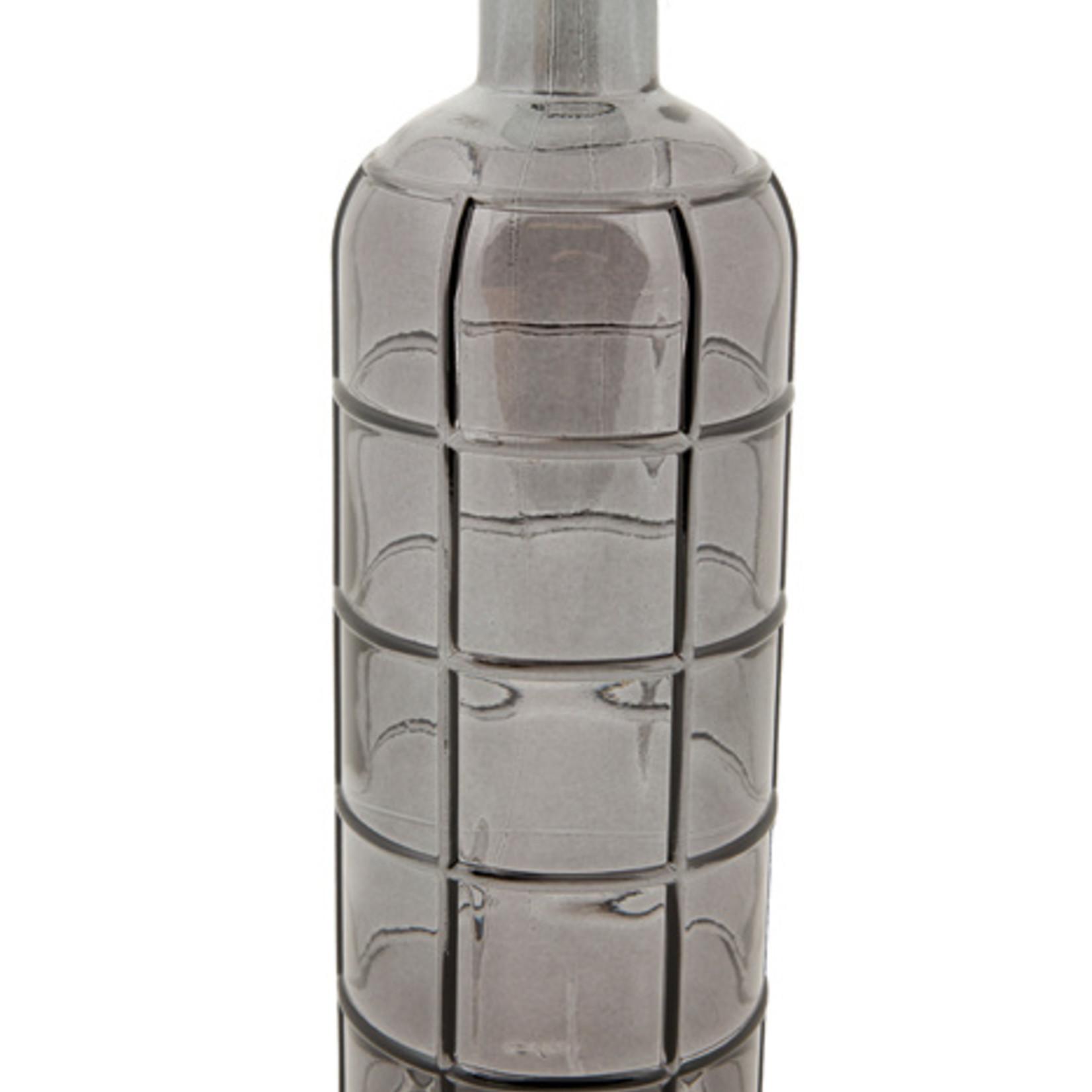 Glazen fles - Medium - Zwart