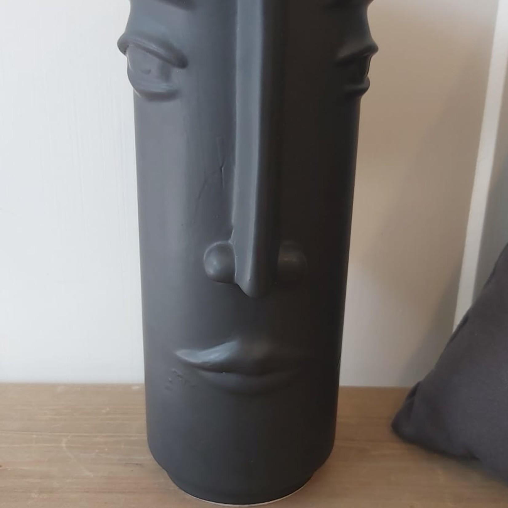 Vaas gezicht - Zwart