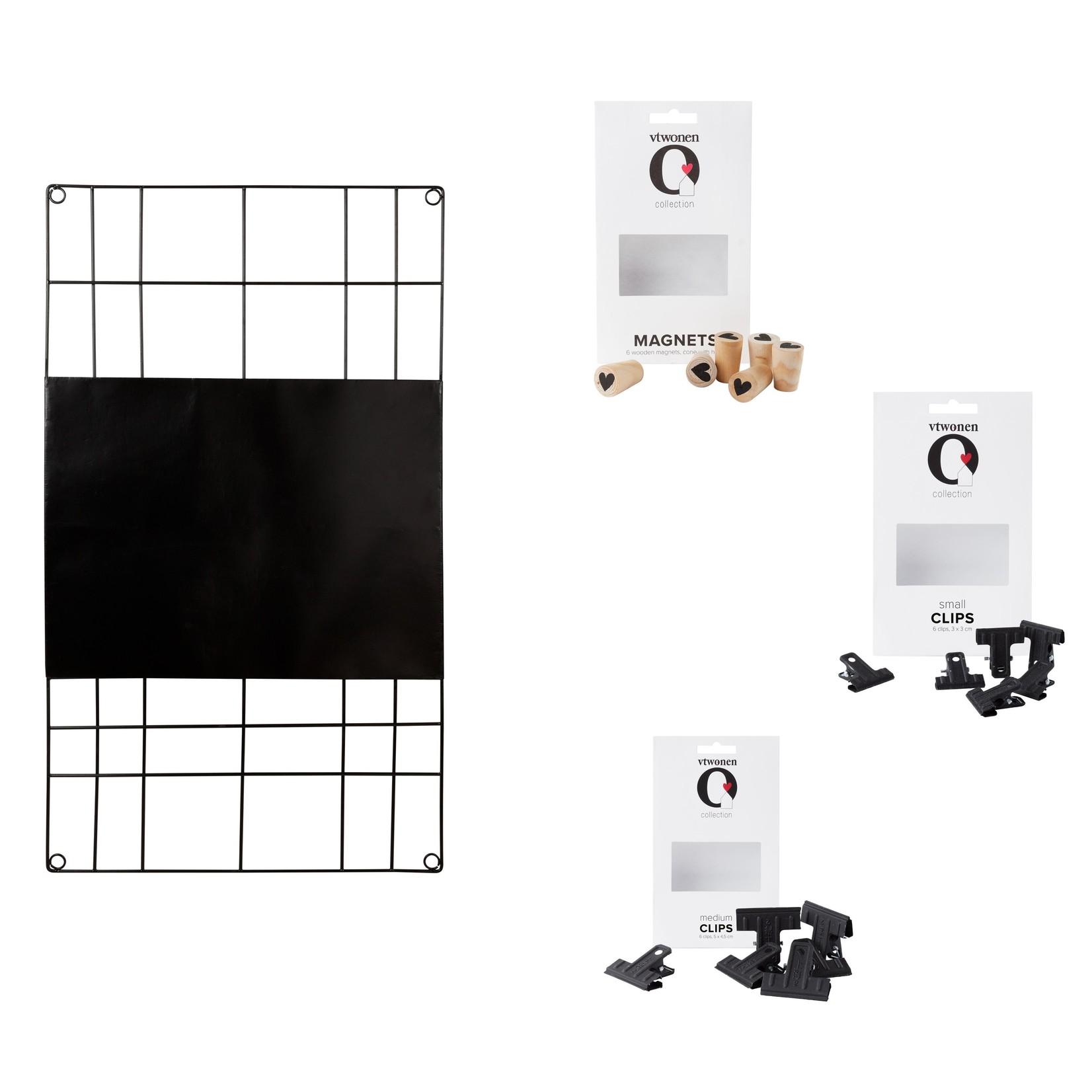 Memobord wire - Black  - 60x105 cm