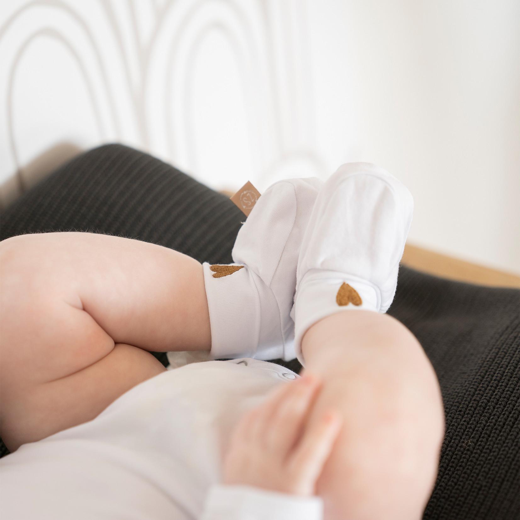 Zusss Babyslofjes - Hartje - Wit