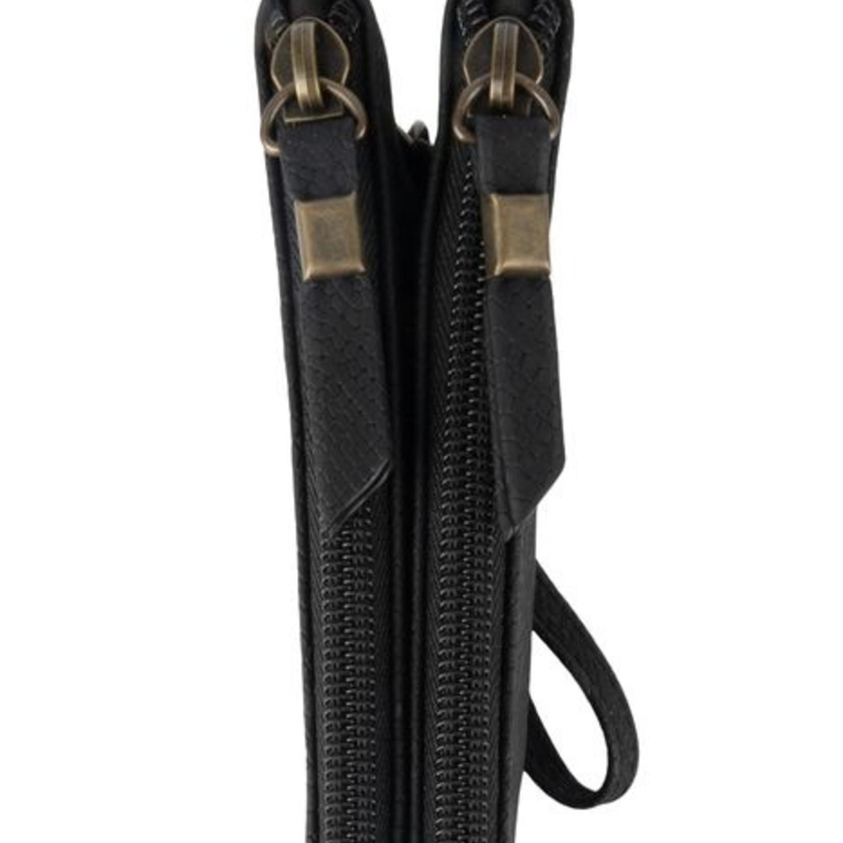 Zusss Portemonnee dubbel - Snake - Zwart
