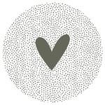 Zoedt Muurcirkel/tuincirkel - Dots & Hart - Groen