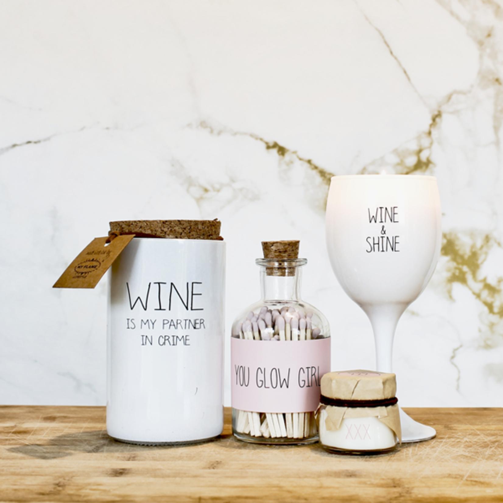 My Flame Sojakaars wijnglas - Wine & shine - Wit
