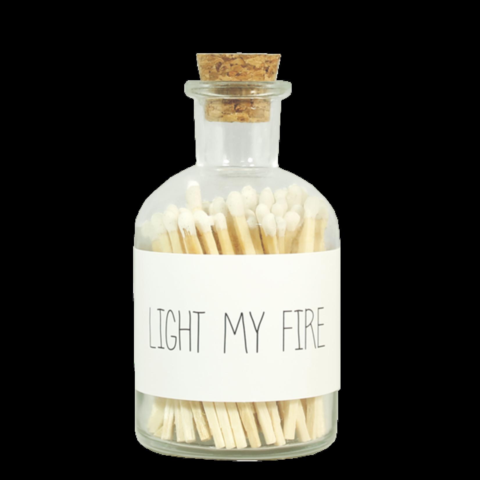 My Flame Lucifer flesje - Wit - Light my fire