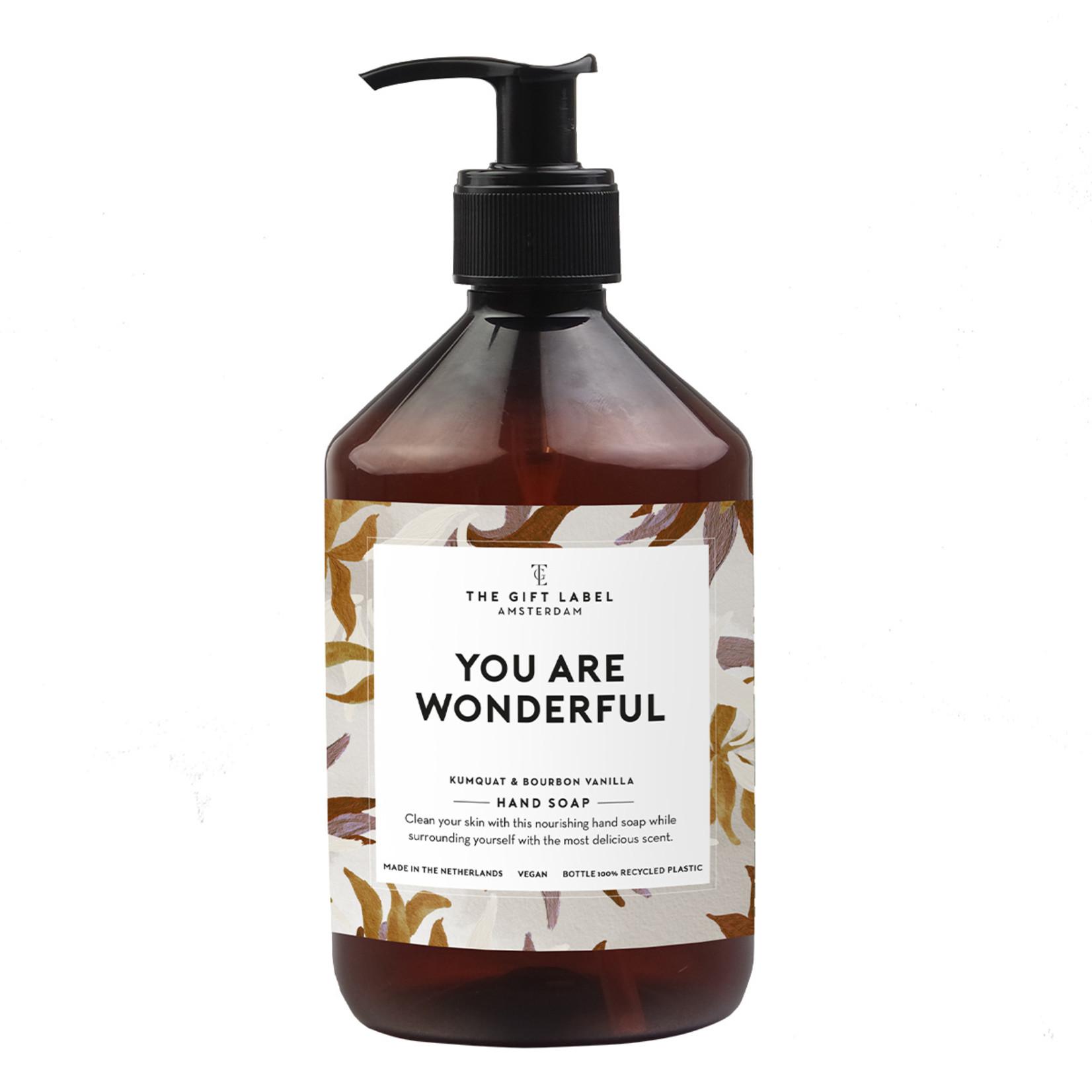 The gift label Handzeep - You are wonderful
