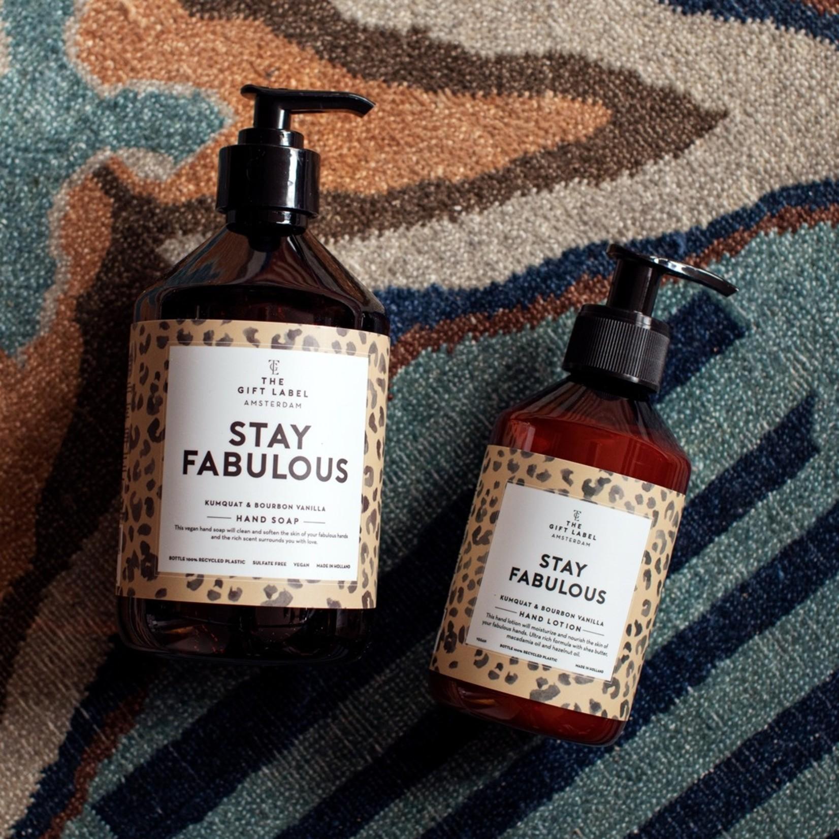 The gift label Handzeep - Stay Fabulous