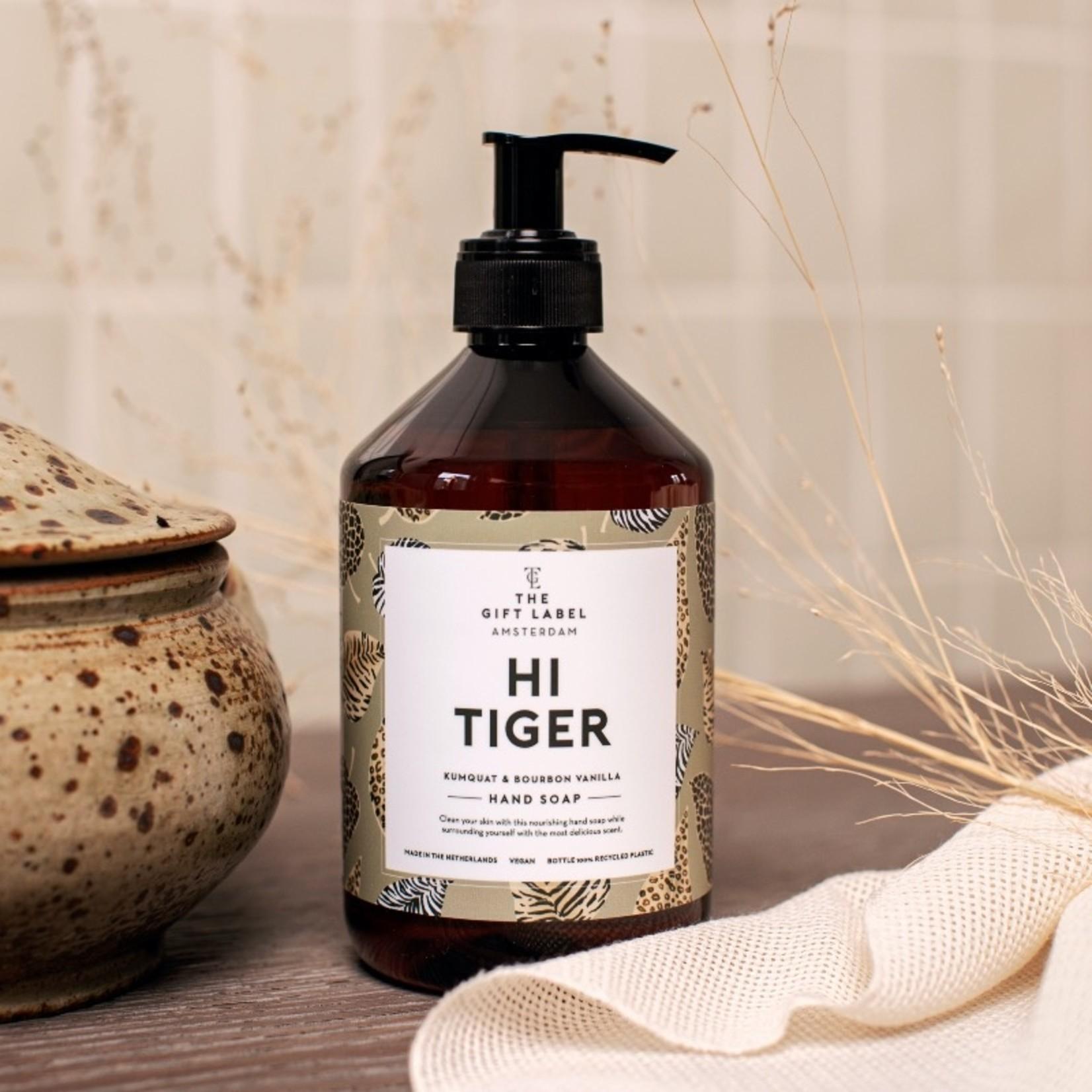 The gift label Handzeep - Hi tiger