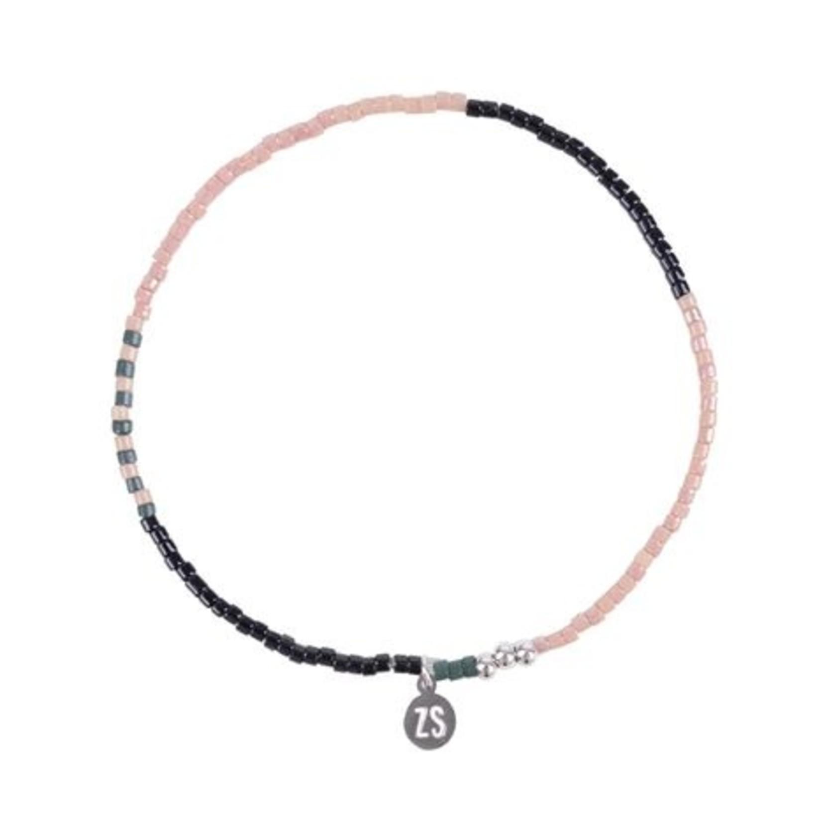 Zusss Armband - Kralen - Roze/Zilver