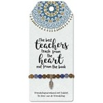Miko Vriendschapsarmband - The best teachers teach from the heart not from the book