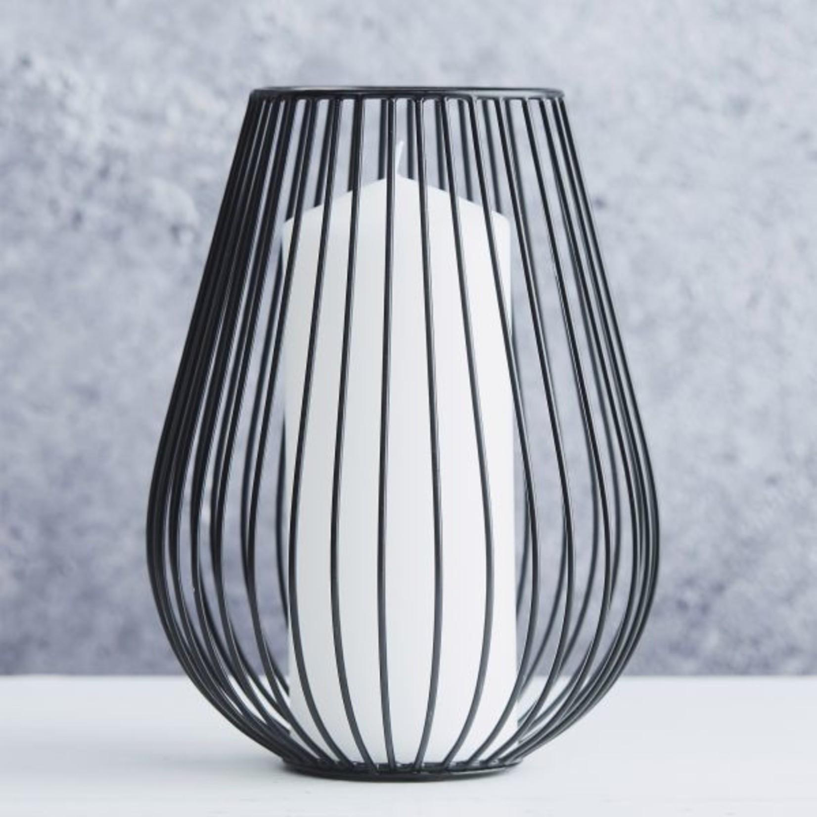 Point Virgule Kaarshouder - Wire - Zwart - Ø 17cm x 22,5cm