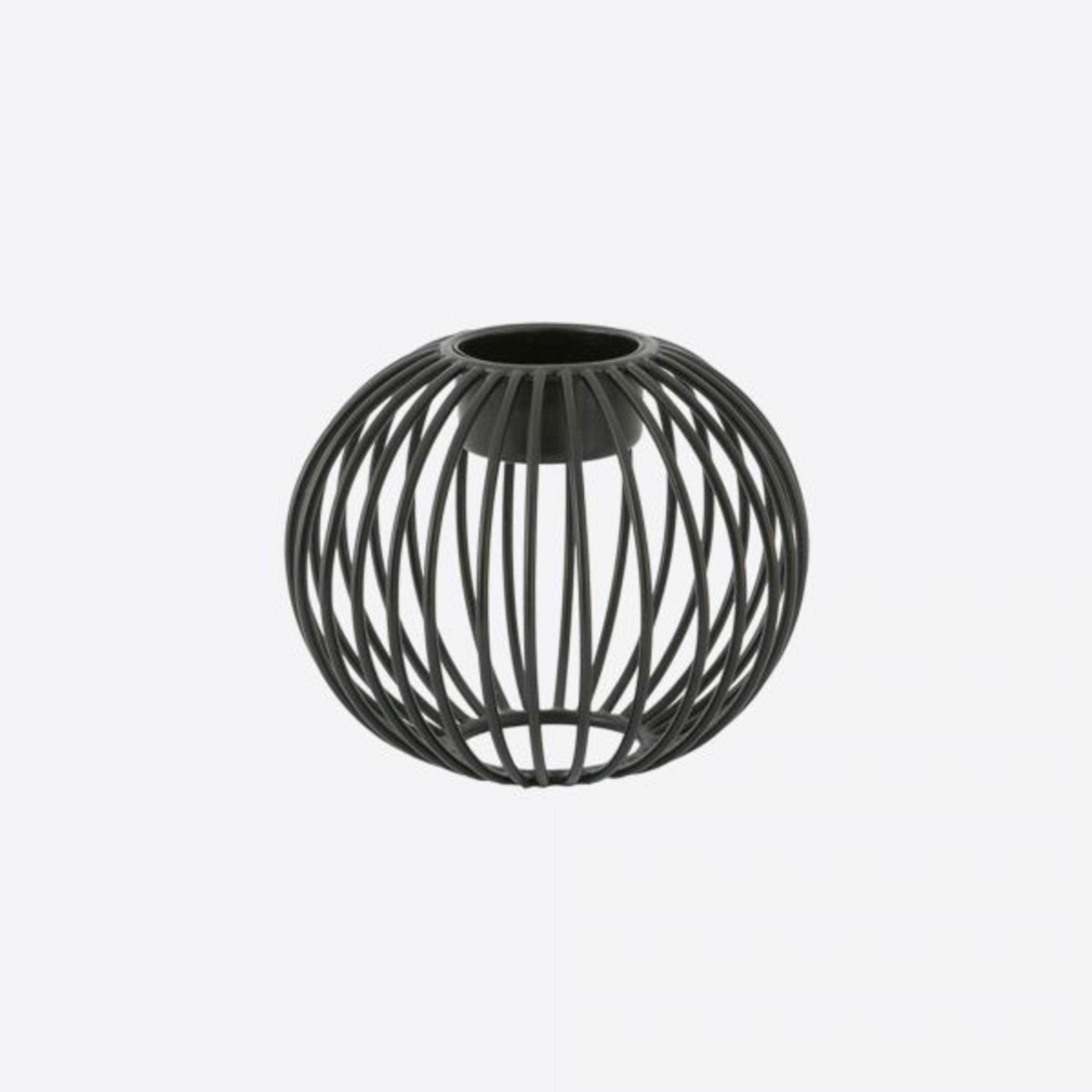 Point Virgule Theelichthouder - Wire - Rond - Zwart - Ø 10,5cm