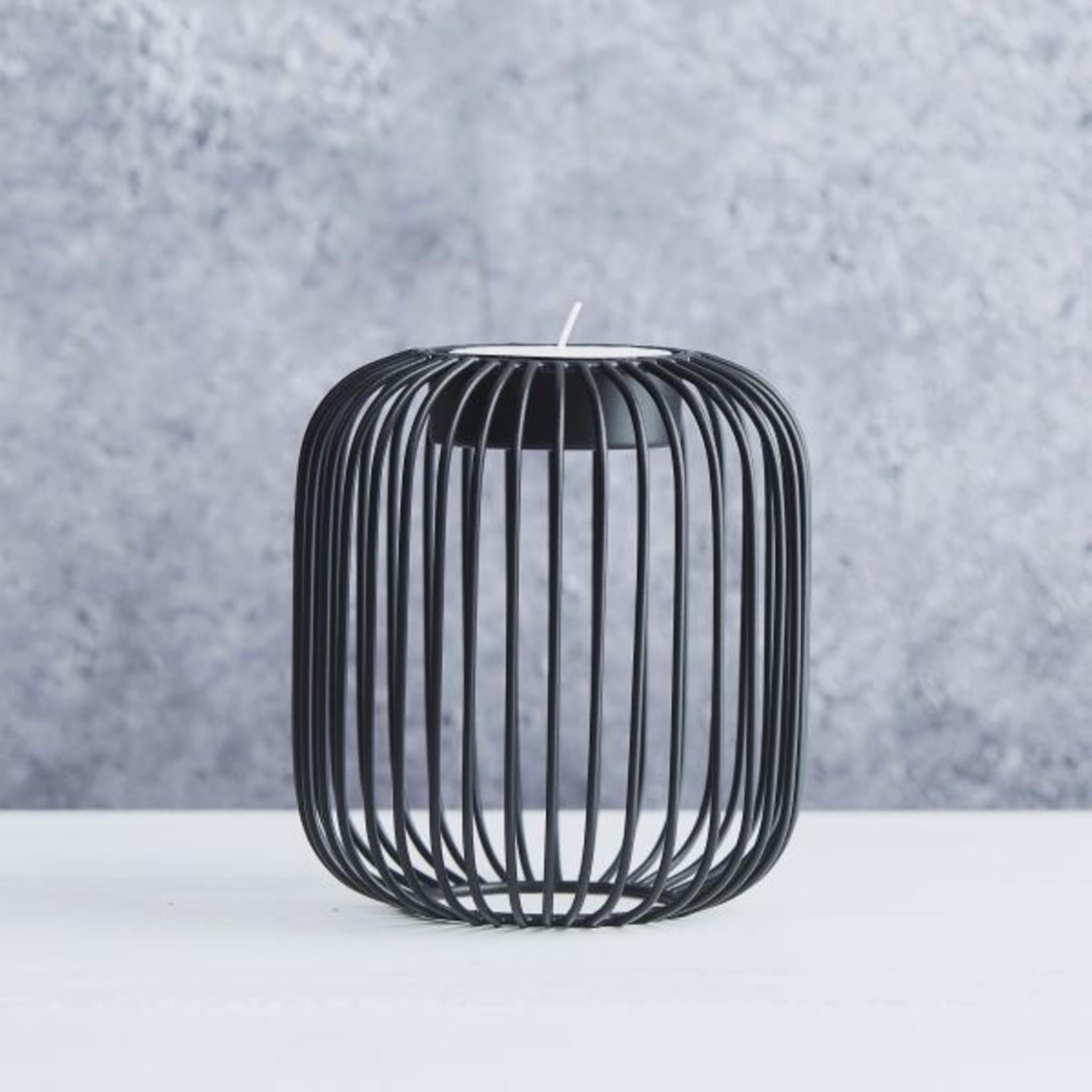 Point Virgule Theelichthouder - Wire - Zwart - ø 13cm x 14cm