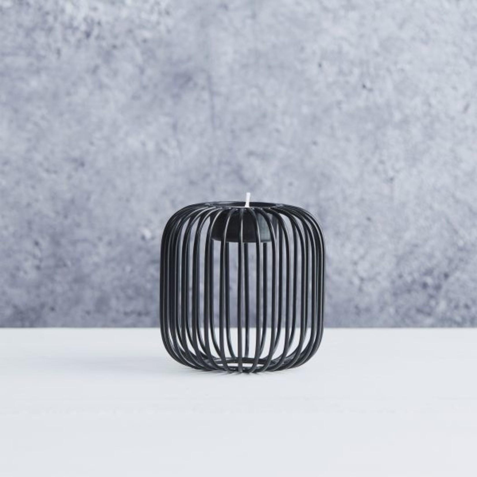 Point Virgule Theelichthouder - Wire - Zwart - ø 9.5cm x 9.5cm