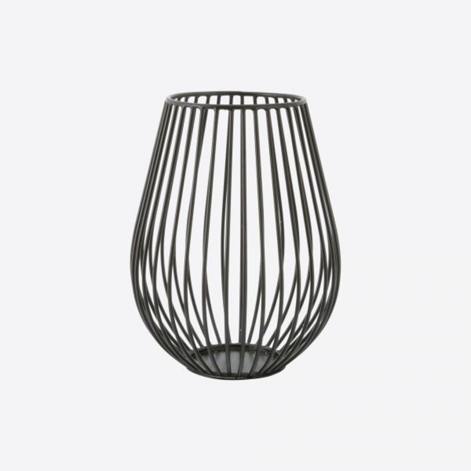 Point Virgule Kaarshouder - Wire - Zwart - Ø 11,5cm x 15,5cm