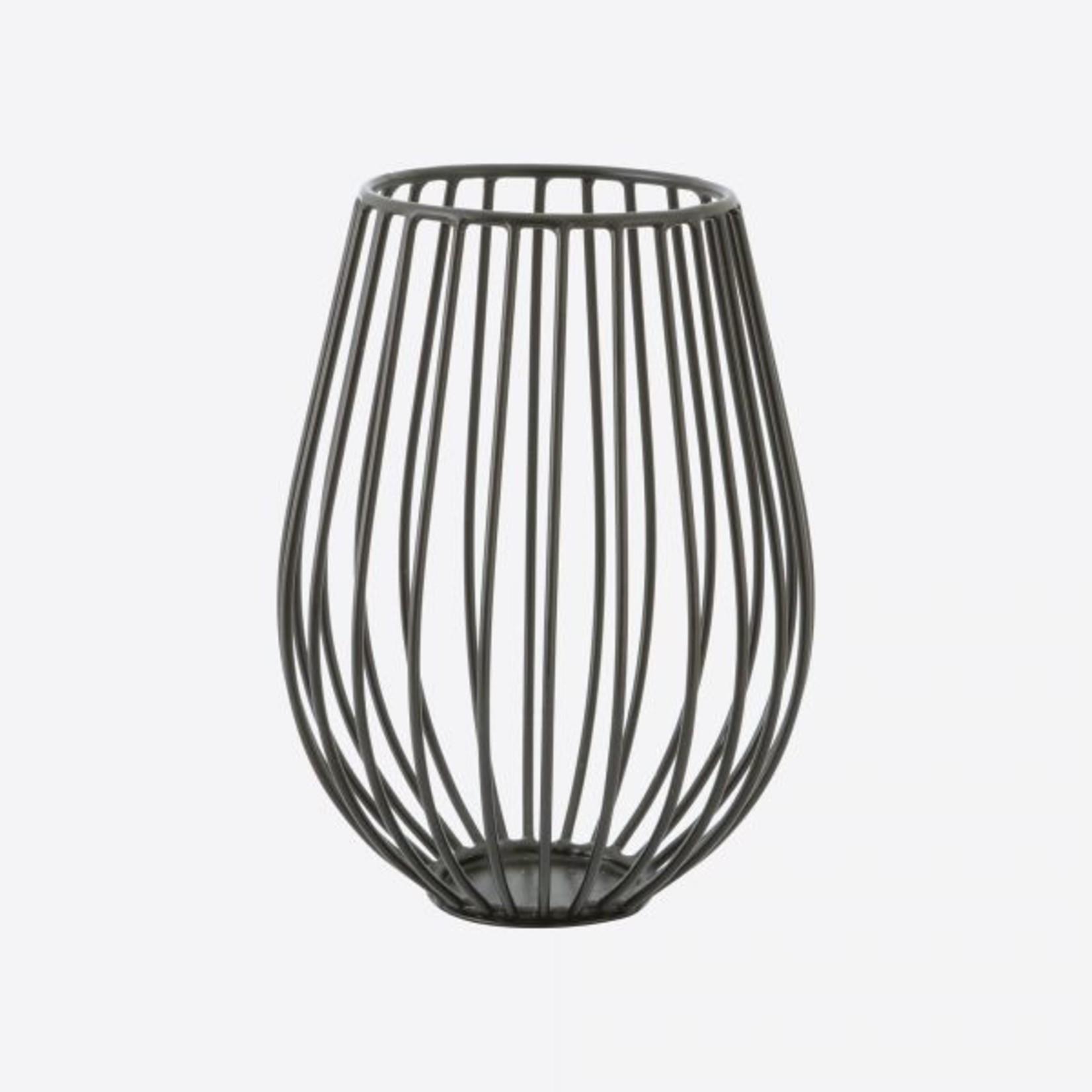 Point Virgule Kaarshouder - Wire - Zwart - Ø 14cm x 18cm