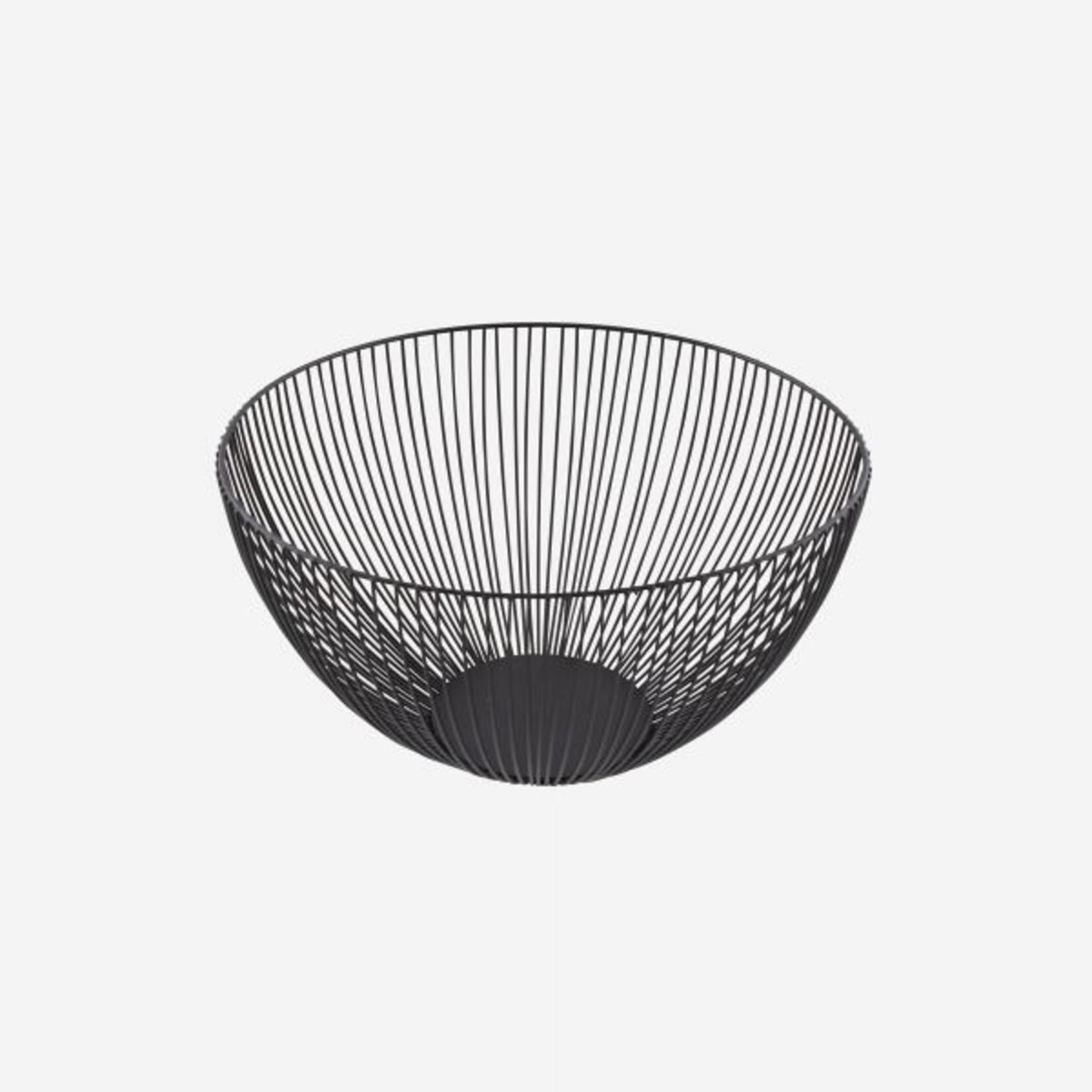 Point Virgule Fruitmand - Wire - Zwart -  Ø 25cm