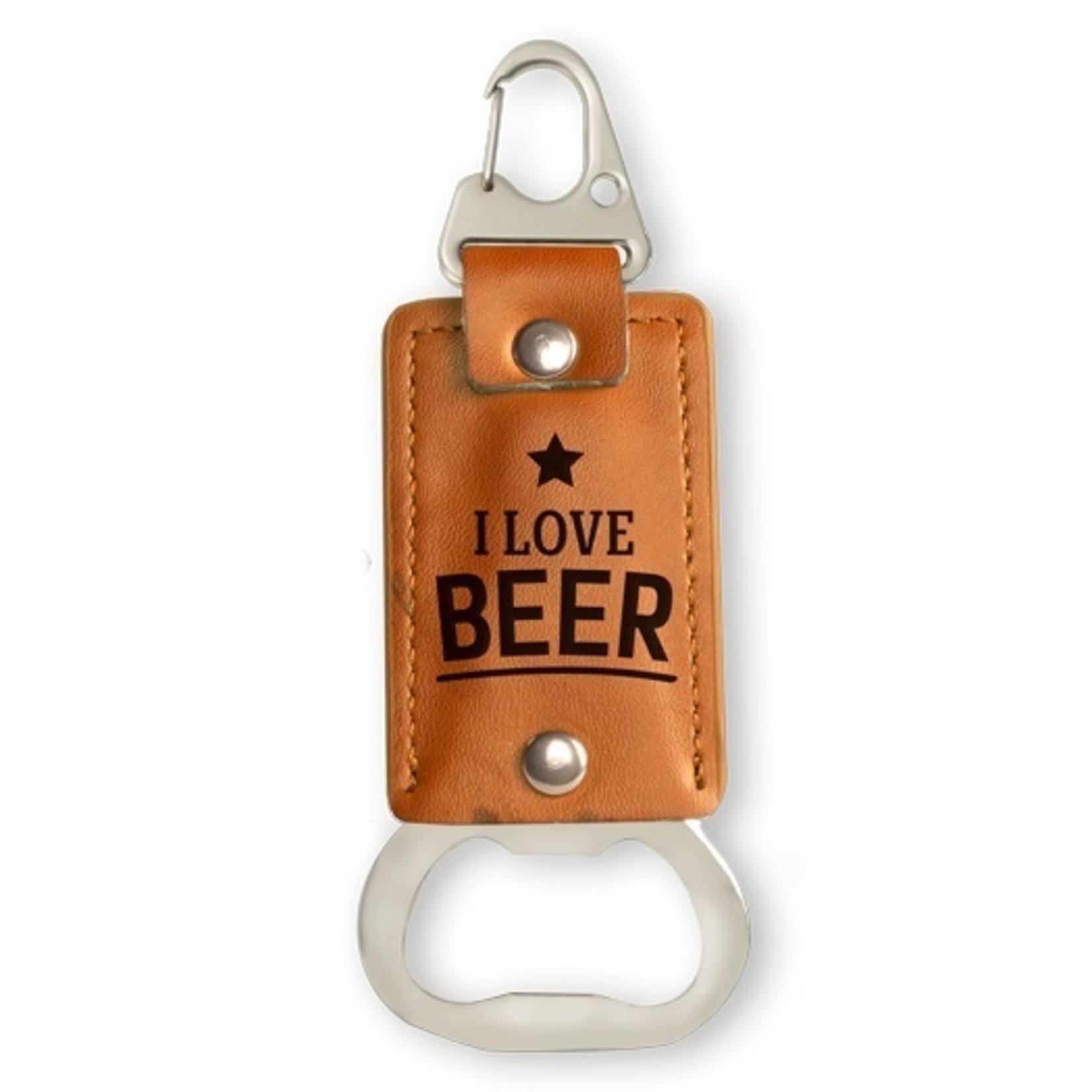 Miko Sleutelhanger/opener - I love beer