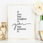 Tales by Jen Poster - If you can imagine it, you can achieve it - A4 formaat