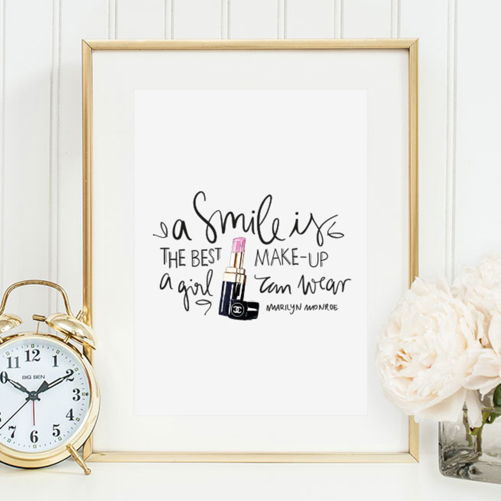 Tales by Jen Poster - A smile is the best make-up a girl can wear - A4 formaat