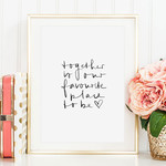 Tales by Jen Poster - Together is our favorite place to be - A4 formaat