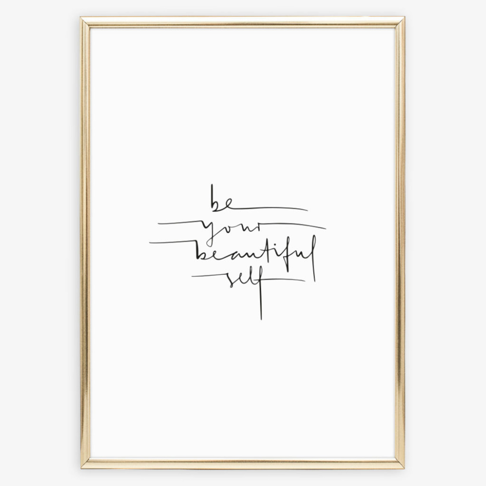 Tales by Jen Poster - Be your beautiful self - A4
