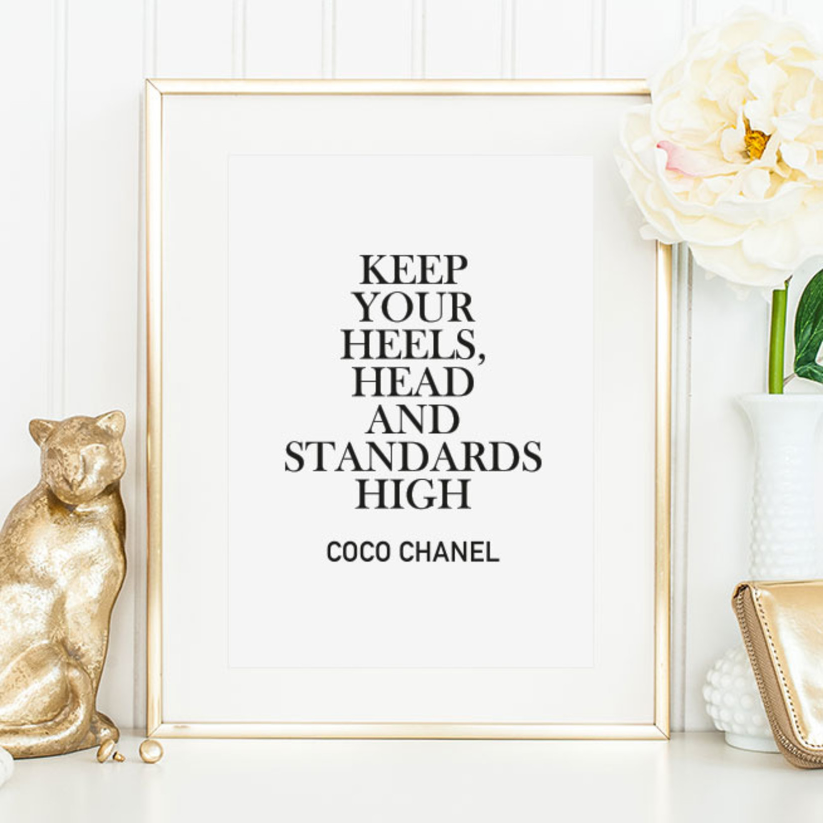 Tales by Jen Poster - Keep your heels, head and standards high - A4 formaat
