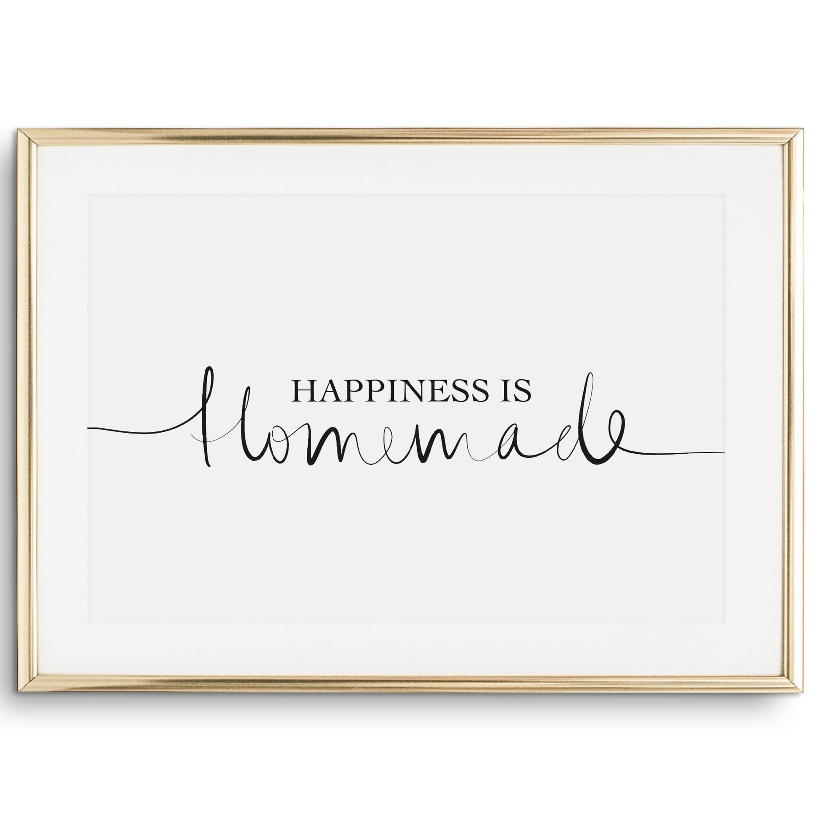 Tales by Jen Poster - Happiness is homemade - A4 formaat