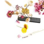 Zoedt Bloemhouder voor droogbloemen - Hout - Zwart