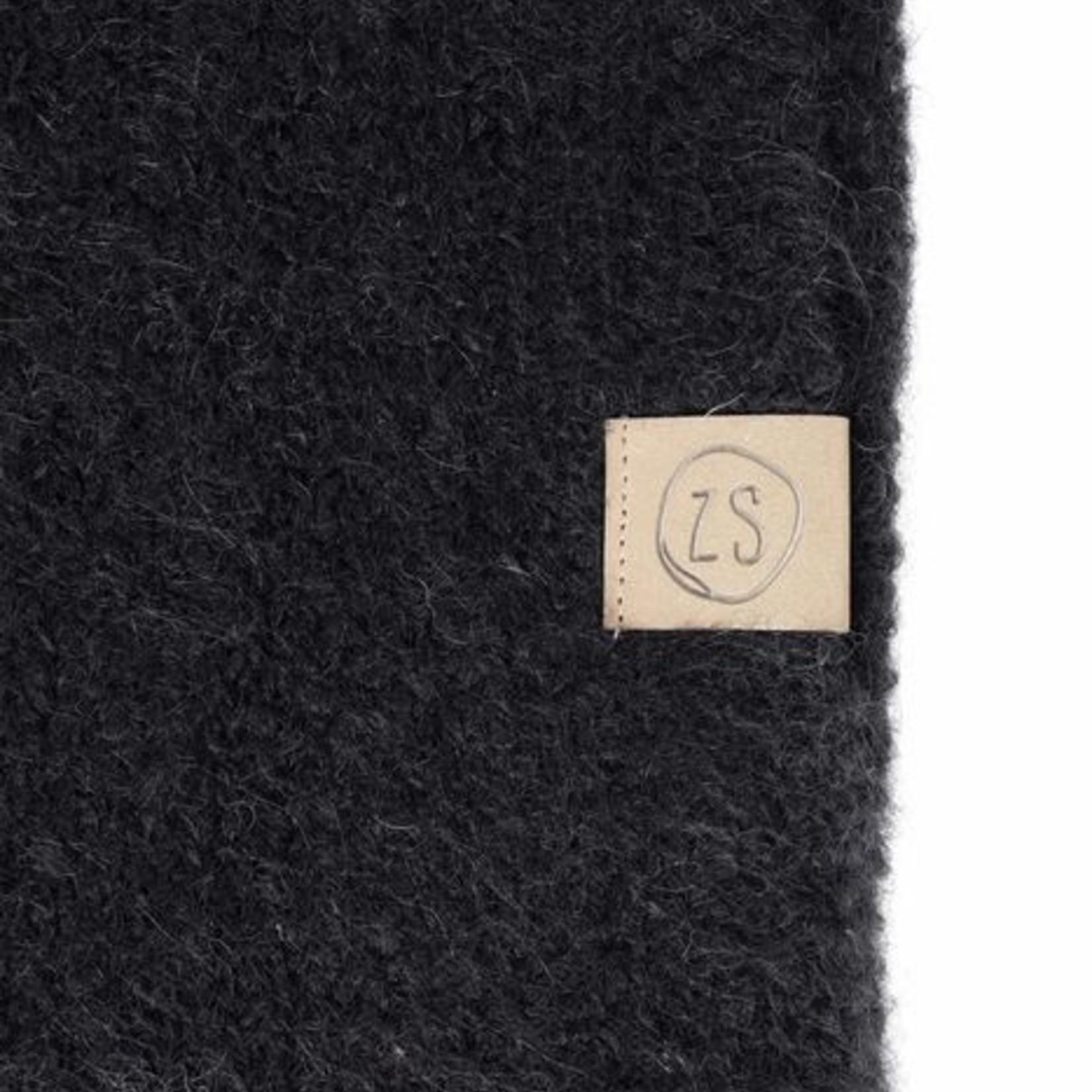 Zusss Sjaal met franjes - Zwart