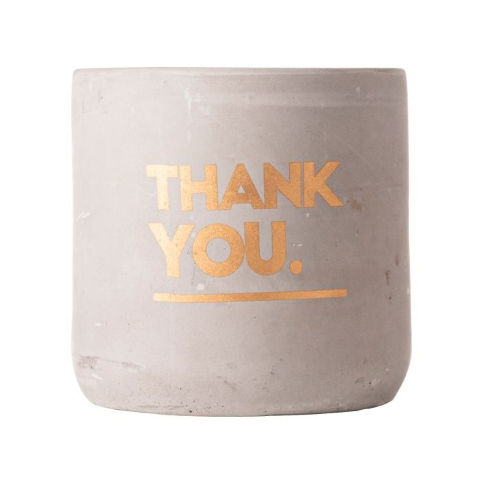 Gusta Kaars - Thank you - Cement -  Ø8x8cm