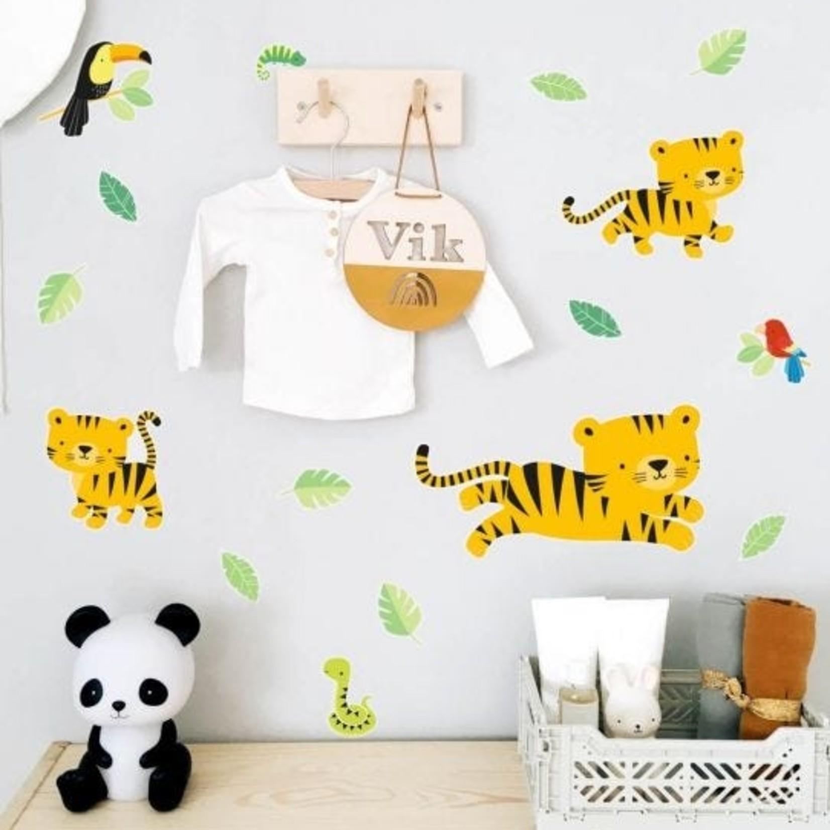 "A little lovely company Muursticker ""Jungle tijger"""