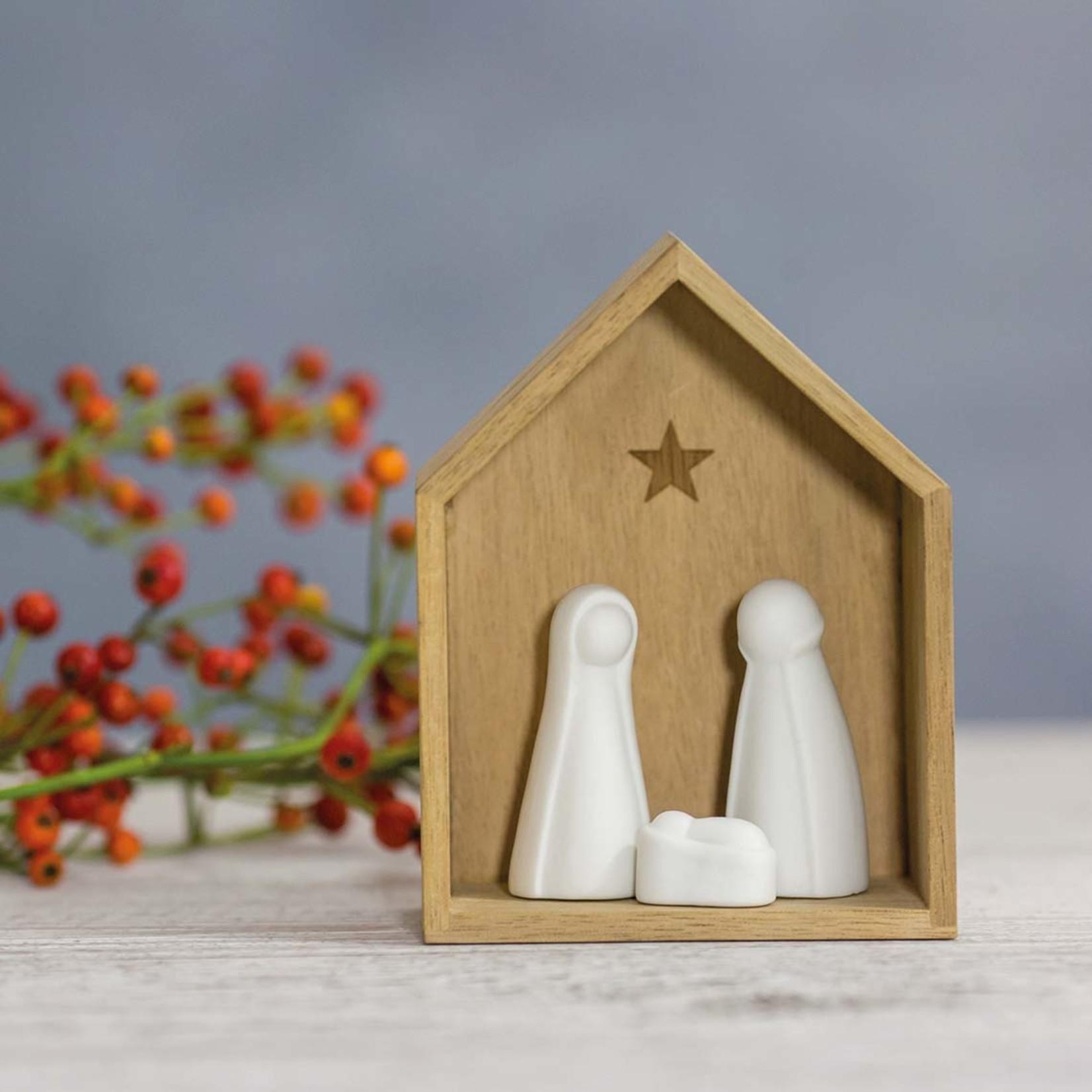 Räder Kerststal - Klein - Hout/Porselein