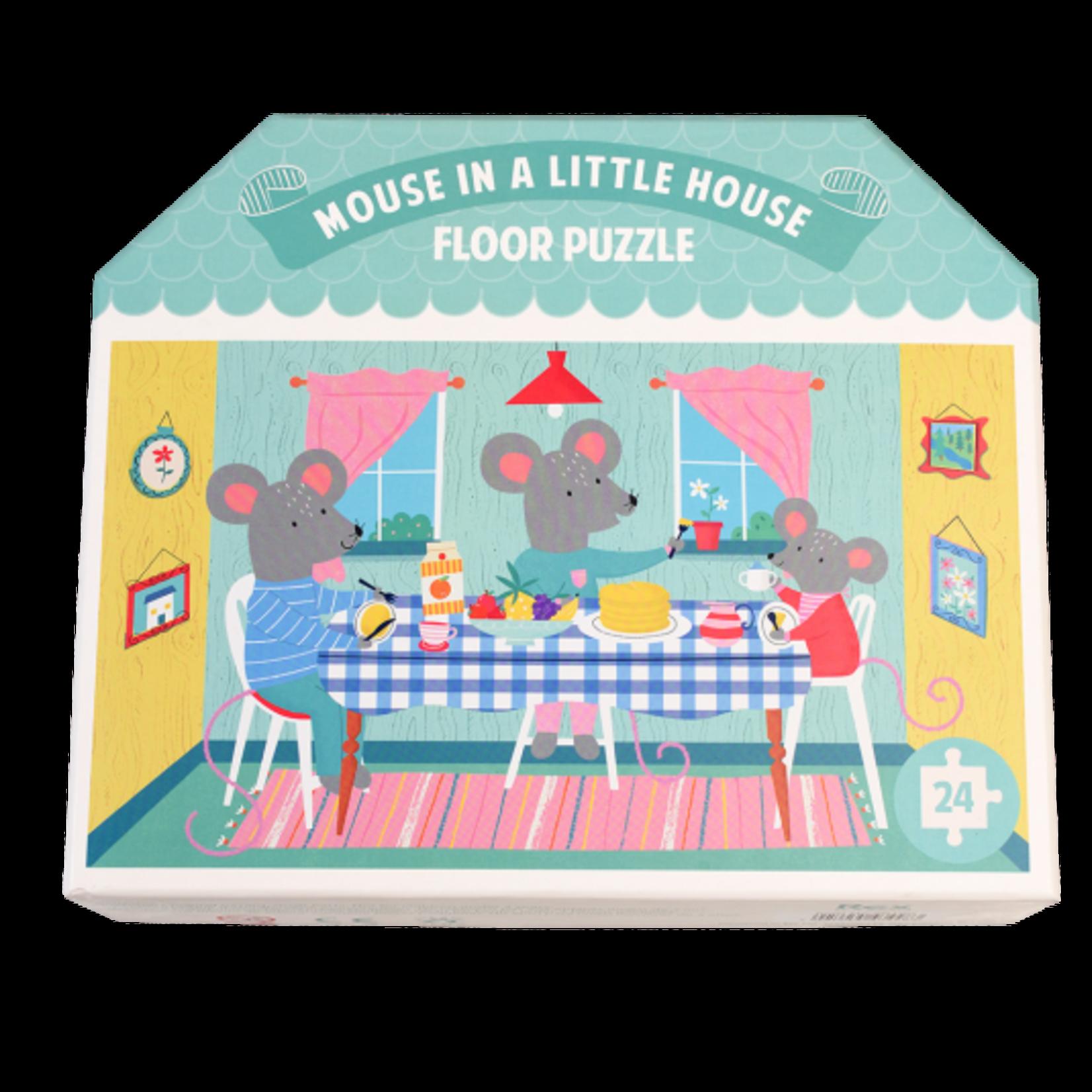 Rex London Vloerpuzzel - Mouse in a house - 24 stukjes