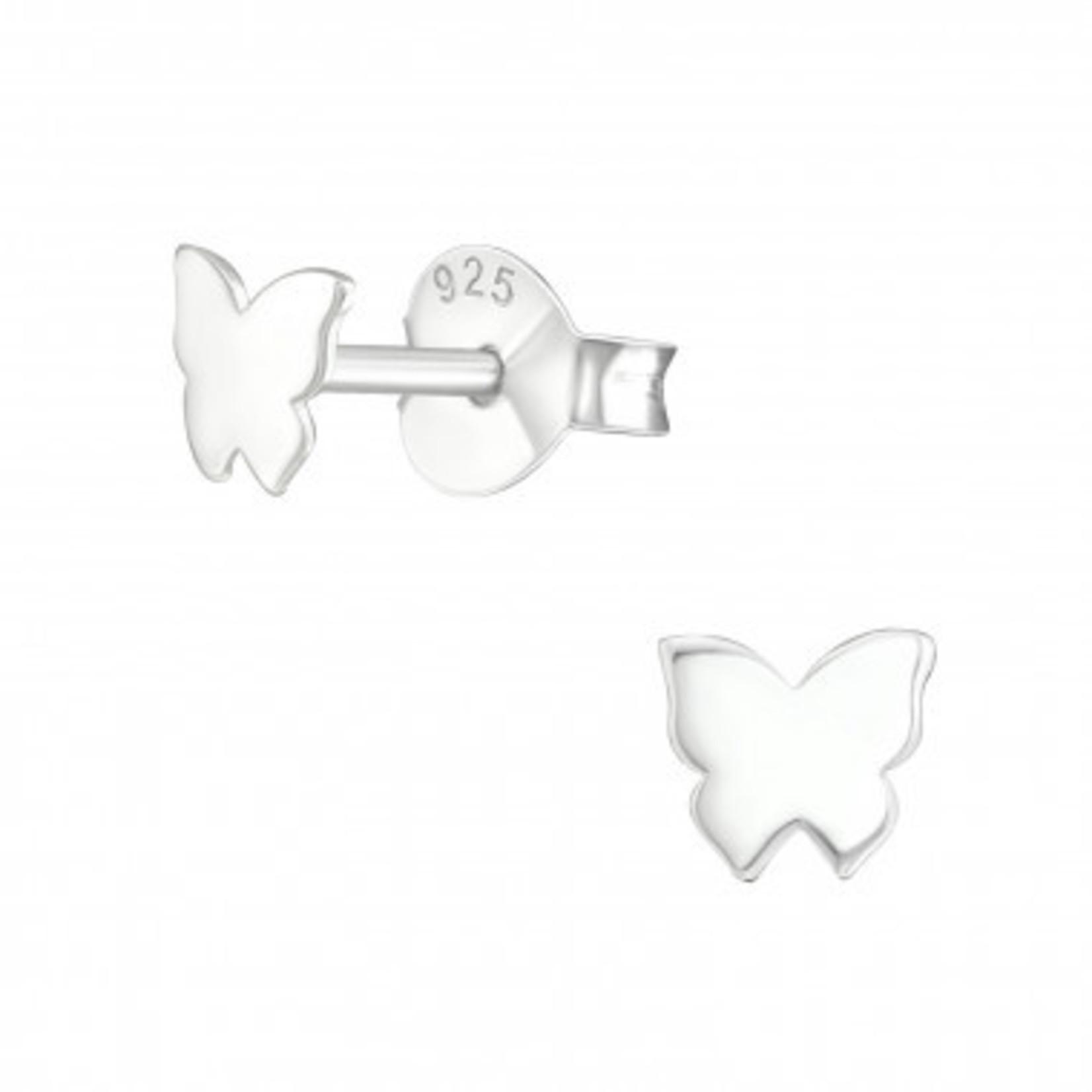 Oorstekers - Vlinder - Zilver