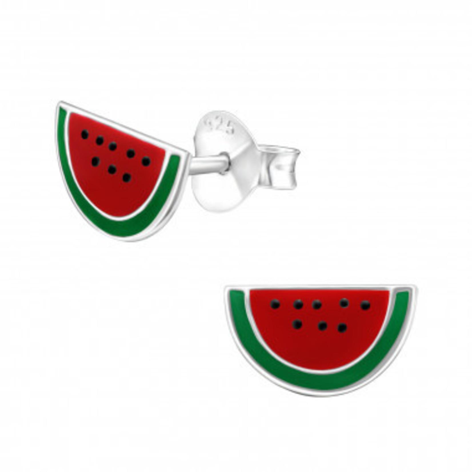 Oorstekers - Watermeloen - Rood/Groen